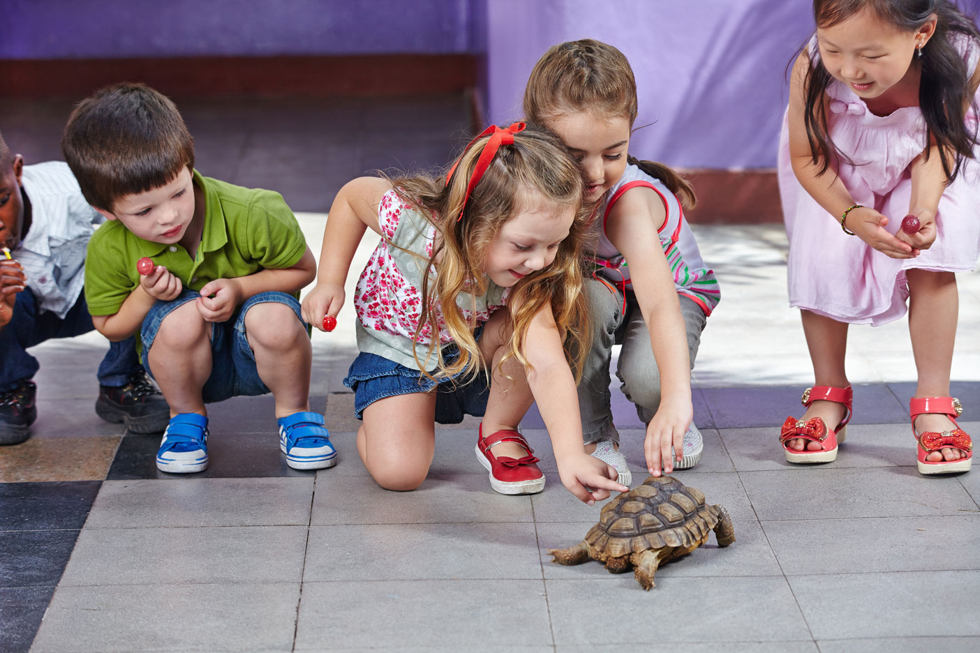 Children with Turtle