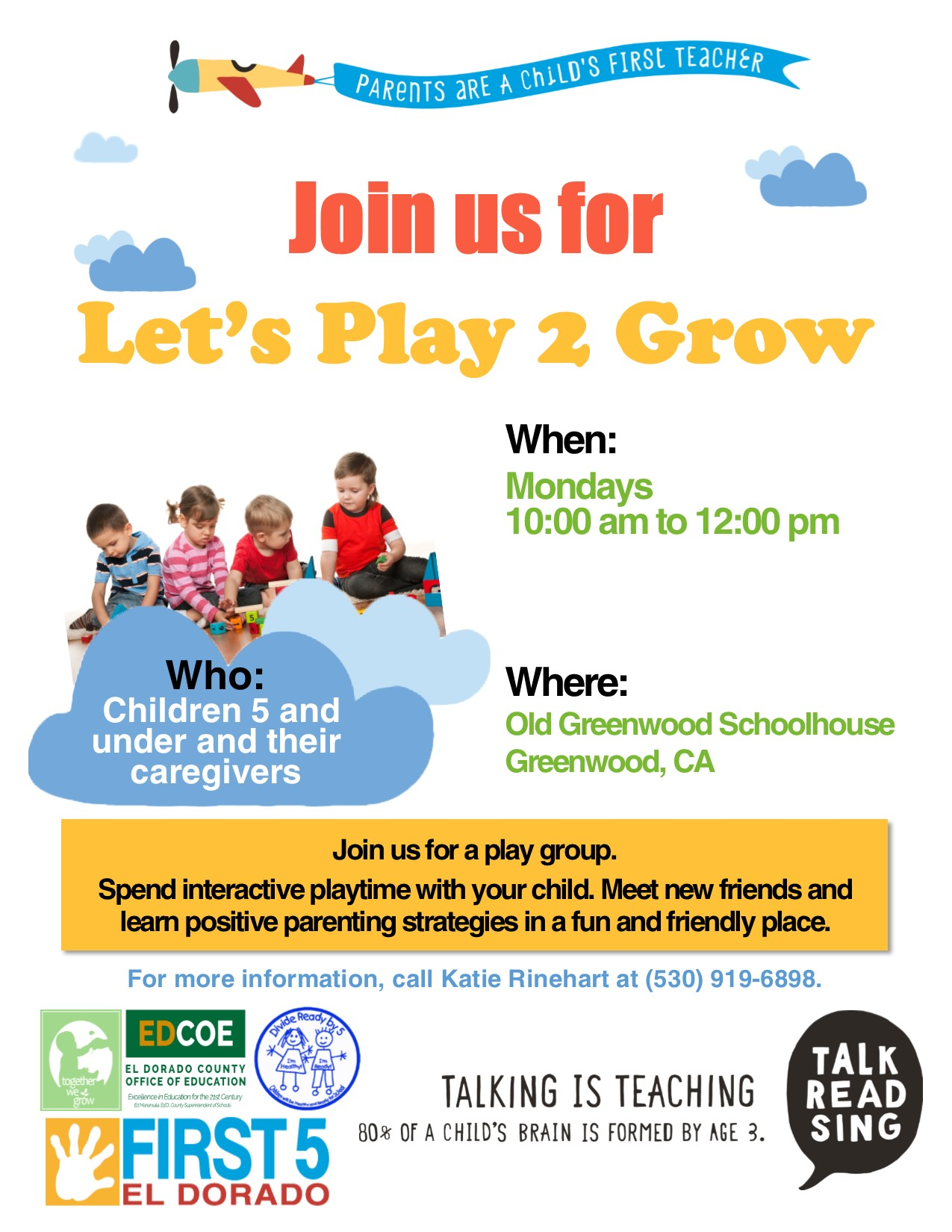 Picture of 'Let's Play 2 Grow' flyer